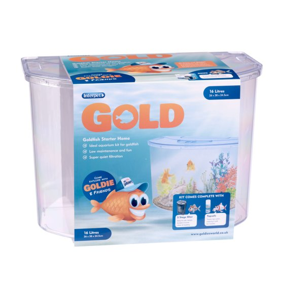 Gold Aquarium 16l -Sold in 6PK
